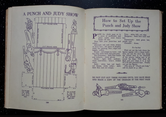 1927 Oojah's Treasure Trunk Make you own Punch and Judy