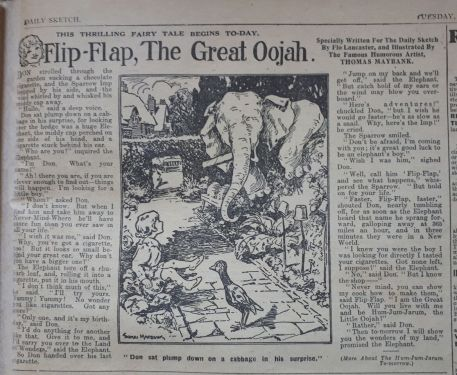 First ever Oojah story from Daily Sketch 18 February 1919